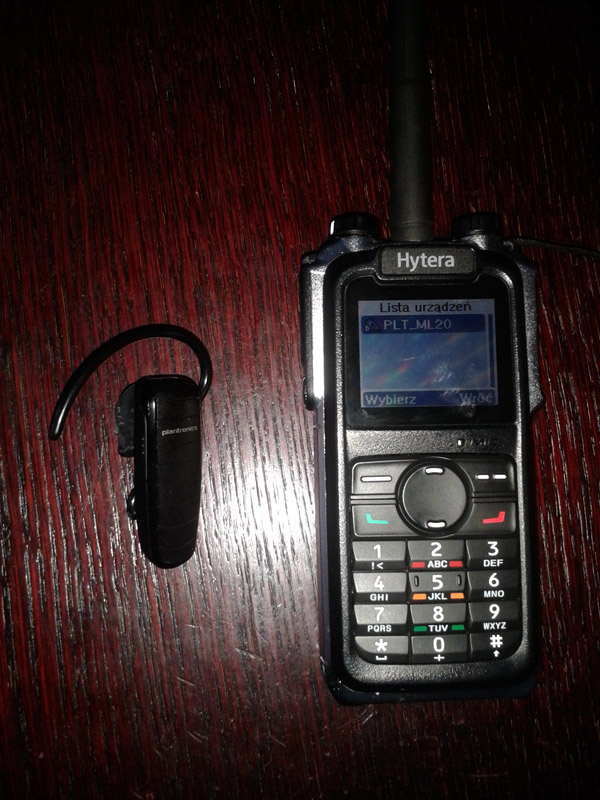 BT Headset with DMR X1p